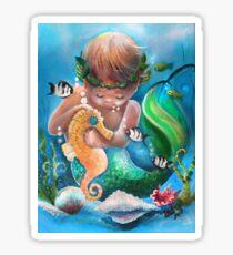 Boy's Best Friend in the Sea Sticker