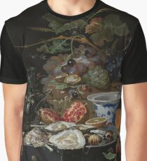 Still Life with Fruit, Oysters, and a Porcelain Bowl, Abraham Mignon, 1660 - 1679 Graphic T-Shirt