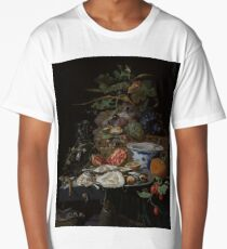 Still Life with Fruit, Oysters, and a Porcelain Bowl, Abraham Mignon, 1660 - 1679 Long T-Shirt