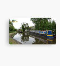 Classic English canal scene Canvas Print