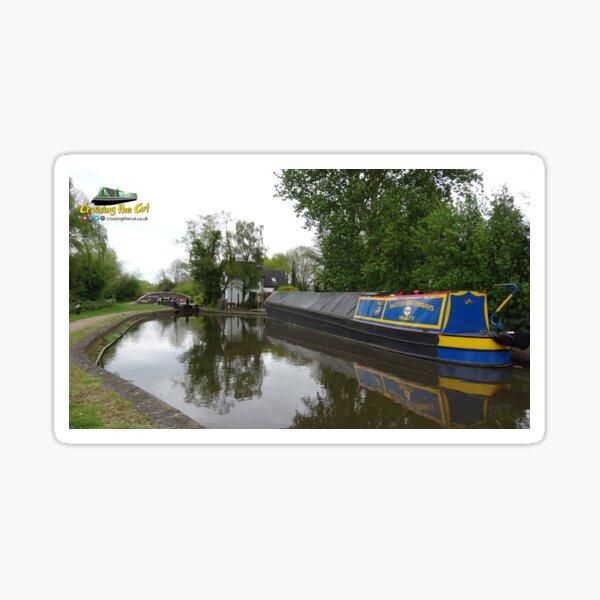 Classic English canal scene Sticker