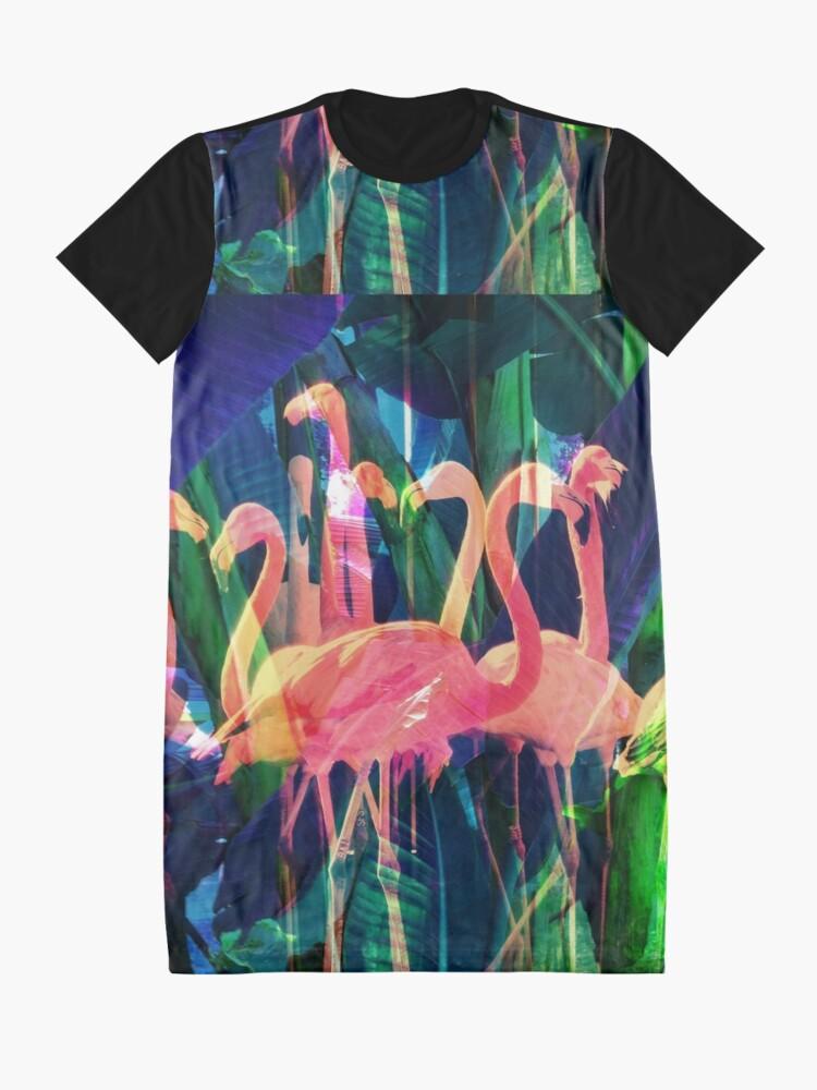 Alternate view of Flamingo Dance Graphic T-Shirt Dress