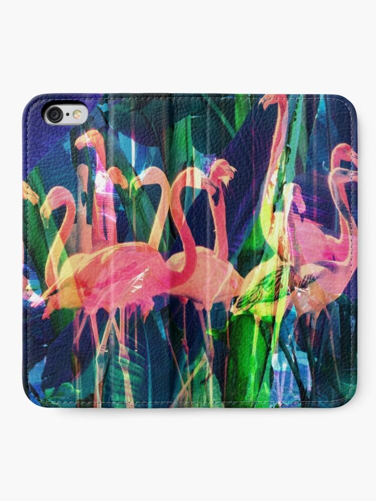 Alternate view of Flamingo Dance iPhone Wallet