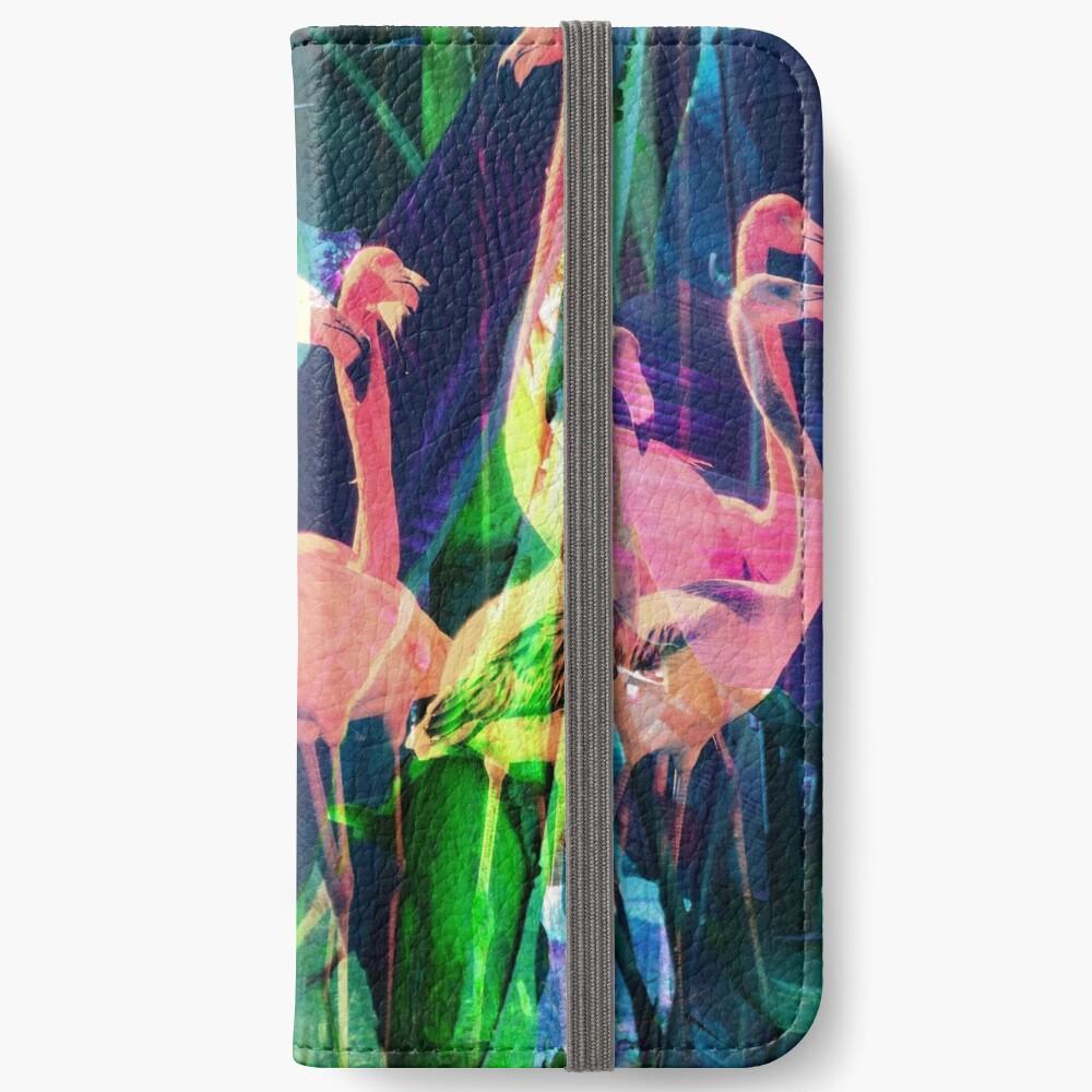 Flamingo Dance iPhone Wallet