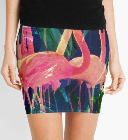 Flamingo Dance Mini Skirt