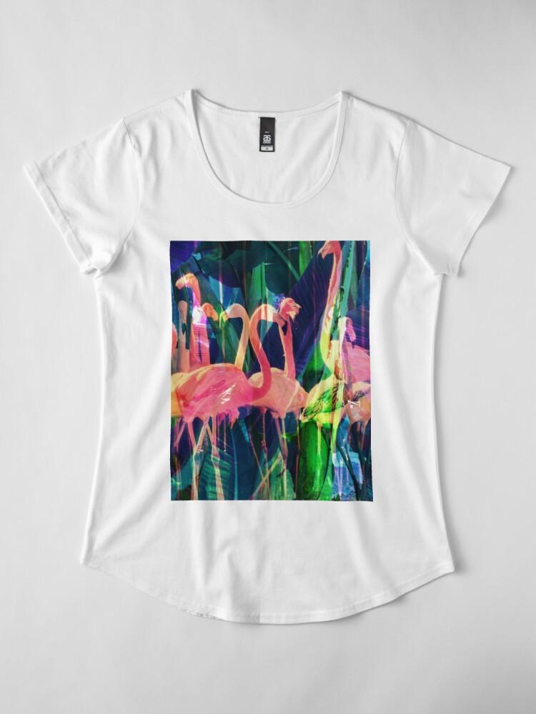 Alternate view of Flamingo Dance Premium Scoop T-Shirt