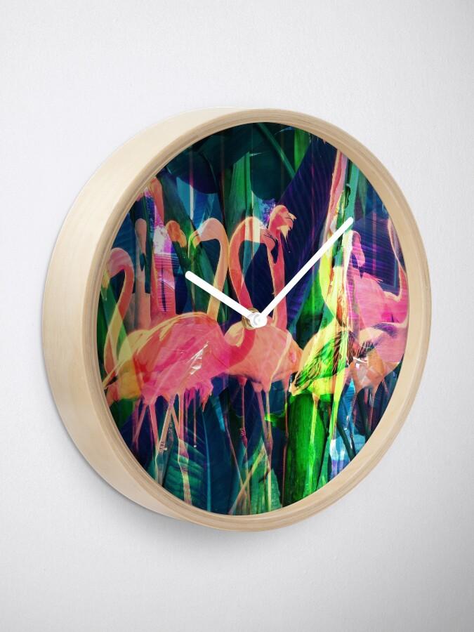 Alternate view of Flamingo Dance Clock