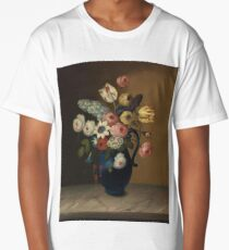 Still life, flowers in a blue jug by W.B. Gould (c1840) Long T-Shirt