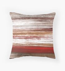 Light taupe abstract watercolor background Throw Pillow