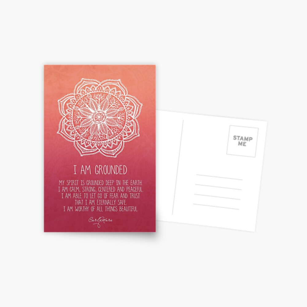 I Am Grounded - Root Chakra Postcard