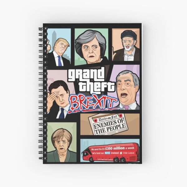 GTA: Brexit Spiral Notebook