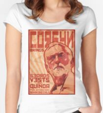 Corbyn Brings Beards, Vest and Quinoa Women's Fitted Scoop T-Shirt