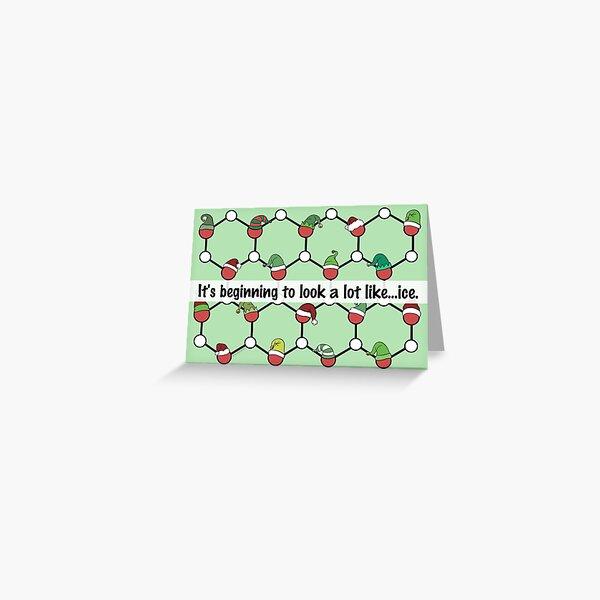 Happy Holidays Ice Lattice Greeting Card