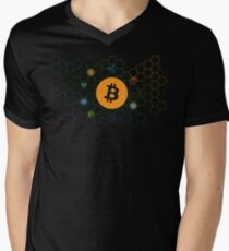 Bitcoin Men's V-Neck T-Shirt