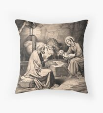 The birth of Christ Throw Pillow