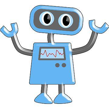 Robot, Toy, Blue, 1950s, Robotics, Fun, Cartoon by TOMSREDBUBBLE