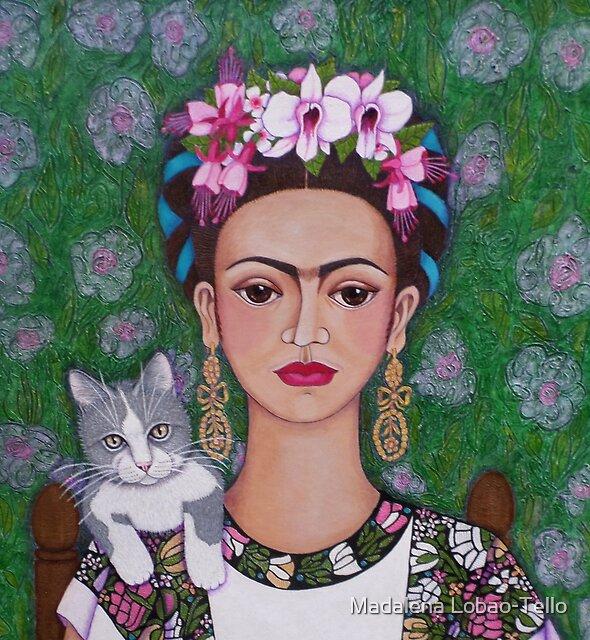 Frida cat lover - closer by Madalena Lobao-Tello
