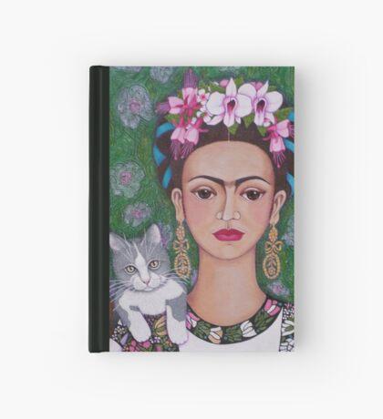 Frida cat lover - closer Hardcover Journal