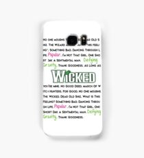 Wicked The Musical Samsung Galaxy Case/Skin