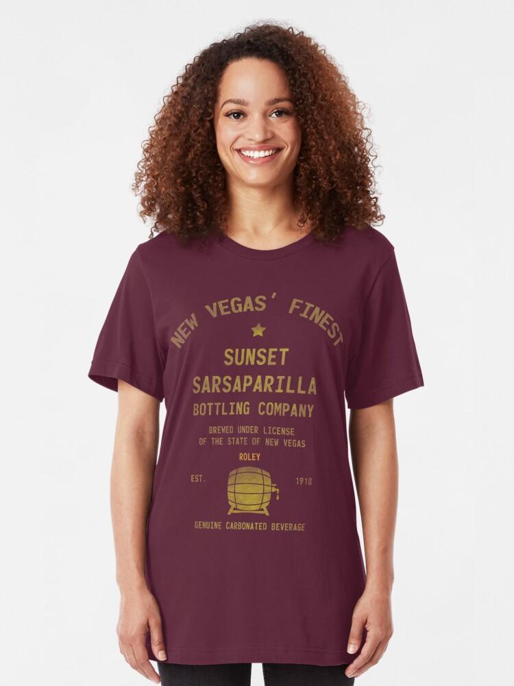 Alternate view of Sunset Sarsaparilla Slim Fit T-Shirt