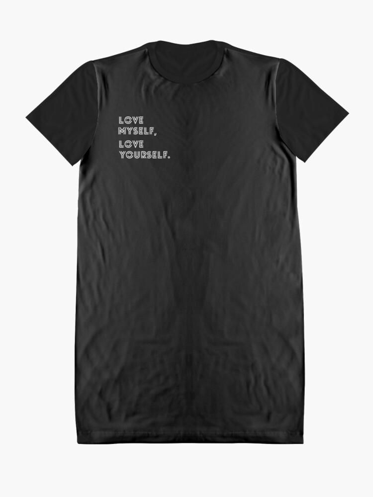 Alternative Ansicht von LIEBE SELBST BTS T-Shirt Kleid