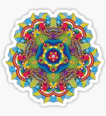 Psychedelic jungle kaleidoscope ornament 36 Sticker