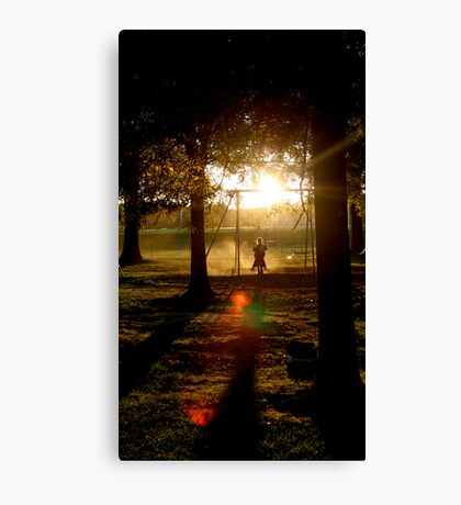 Shadow Swinging Canvas Print