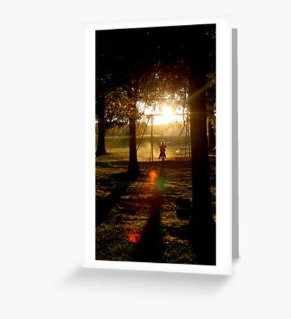 Shadow Swinging Greeting Card