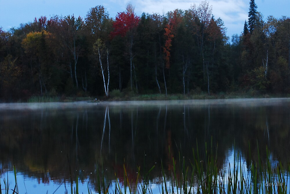 smoke on Innis Lake by deville