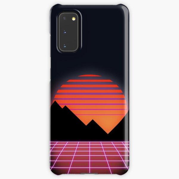 "80s Retro Grid & Rising Sun - ""Event Horizon"" Samsung Galaxy Snap Case"