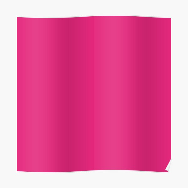 Pink Lemonade Simple Solid Color All Over Print Poster
