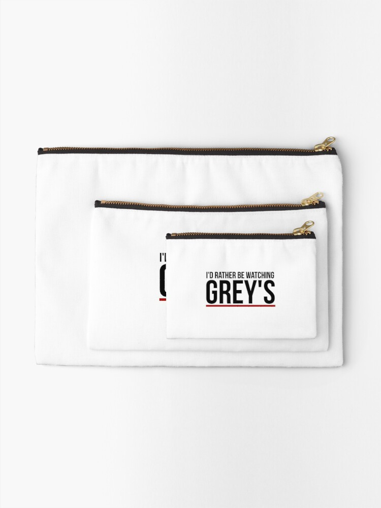 Alternate view of rather be watching grey's Zipper Pouch