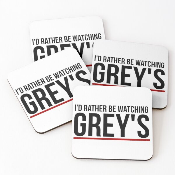 rather be watching grey's Coasters (Set of 4)