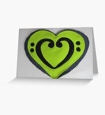 I heart bass Greeting Card