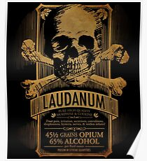 Laudanum Medical Goth Steampunk Label Poster