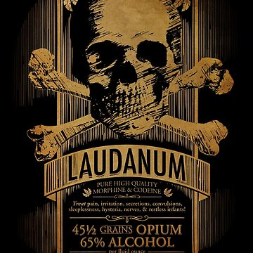 Laudanum Medical Goth Steampunk Label by carlhuber