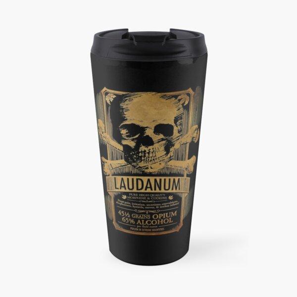 Laudanum Medical Goth Steampunk Label Travel Mug