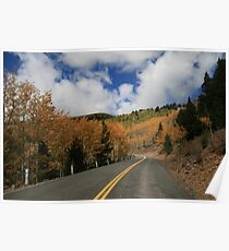 Ski Run Road on Sierra Blanca, Ruidoso New Mexico Poster