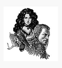 Geralt and Yennefer-Witcher Photographic Print
