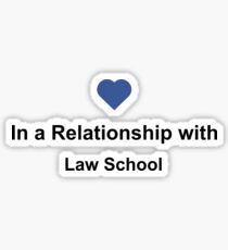 In a Relationship with Law School Shirt - Lawyer Student Facebook Tee Sticker