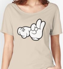 Funny Fingers. Women's Relaxed Fit T-Shirt