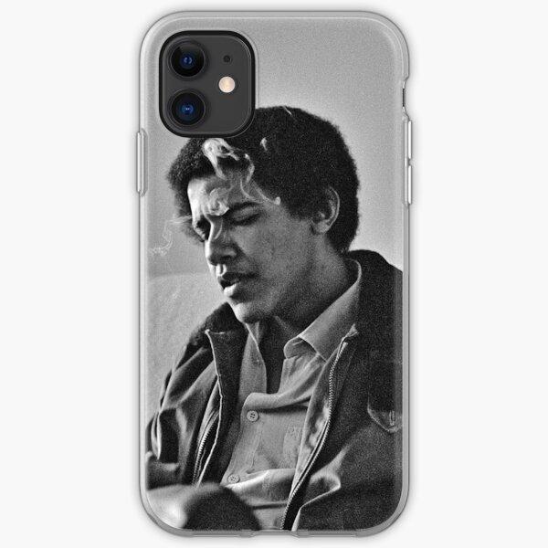 Young Barack Obama - Smoking Print iPhone Soft Case