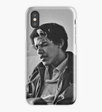 Young Barack Obama - Smoking Print iPhone Case/Skin