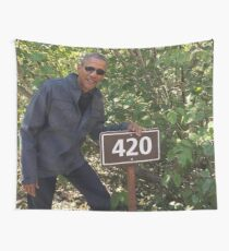 420 Obama Print Wall Tapestry