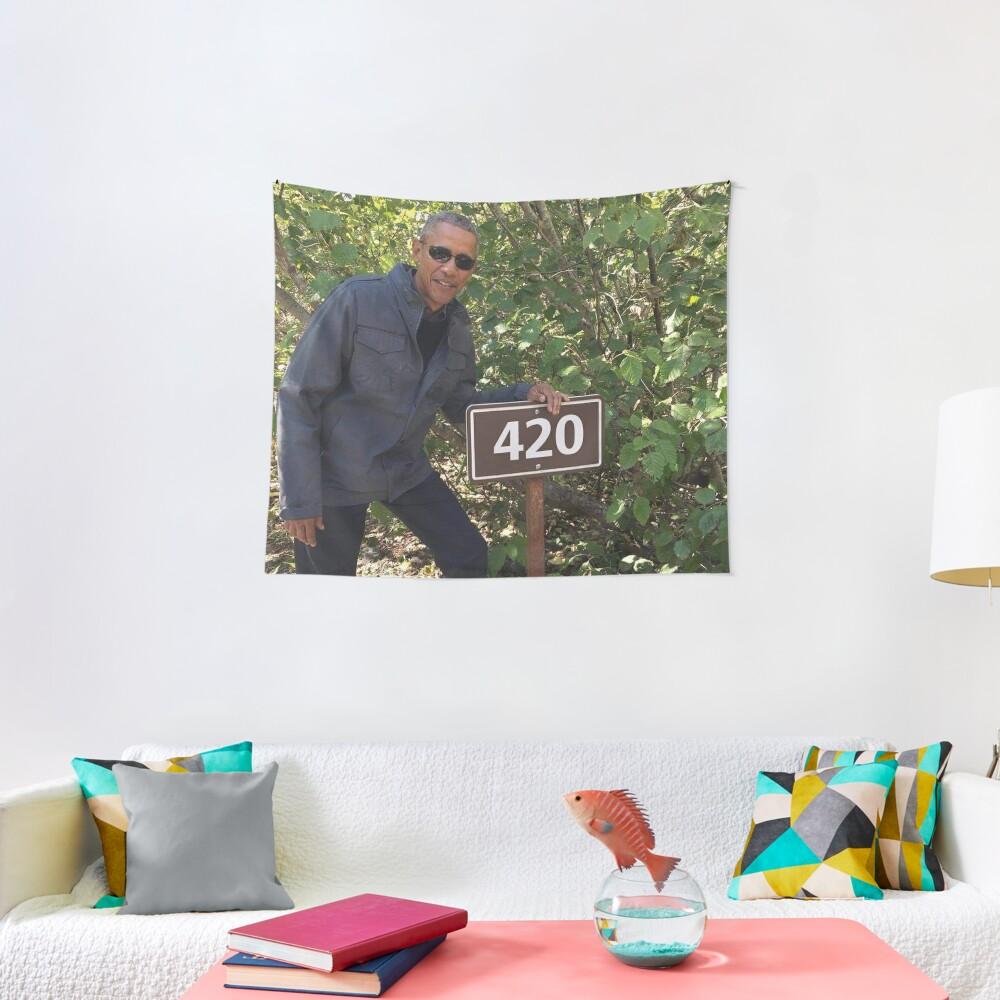 420 Obama Print Tapestry