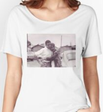Young Barack and Michelle Obama Print Women's Relaxed Fit T-Shirt