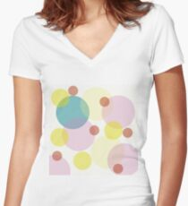 Optical Women's Fitted V-Neck T-Shirt