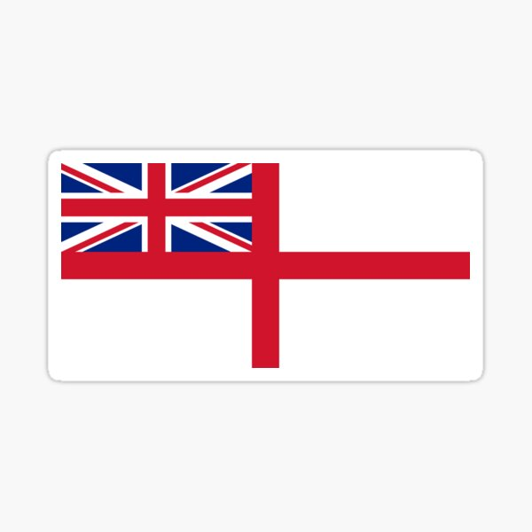 WHITE ENSIGN. Naval Ensign of the United Kingdom, The White Ensign or the St George's Ensign, used by the Royal Navy. On NAVY. Sticker