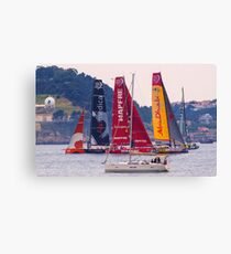 Volvo Ocean Race departure from Lisbon Canvas Print