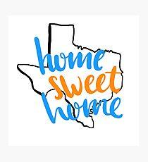 Home Sweet Home Texas-UTA Photographic Print